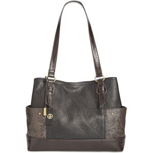 Giani Bernini Sandalwood Embossed Tote Espresso